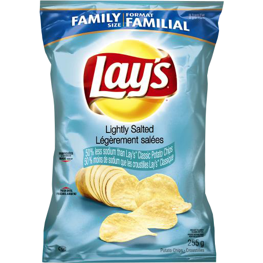 Frito Lay's Lightly Salted Potato Chips (Family Size) 255G