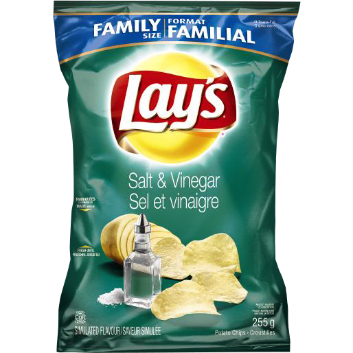 Frito Lay's Salt & Vinegar Potato Chips (Family Size) 255G