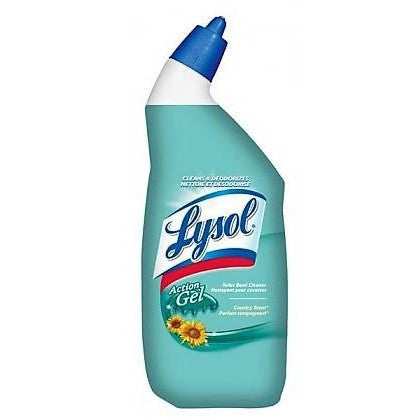 Lysol Toilet Bowl Cleaner Action Gel Country Scent 710mL
