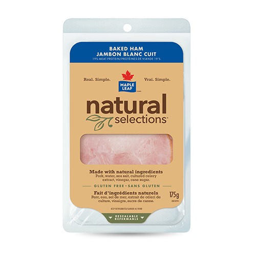 Maple Leaf Natural Selection Baked White-Ham 175G