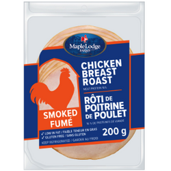 Maple Lodge Farms - Smoked Chicken Breast Roast Sliced 200G
