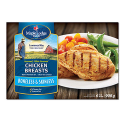 Maple Lodge Farms Chicken Breasts Boneless & Skinless, 908G