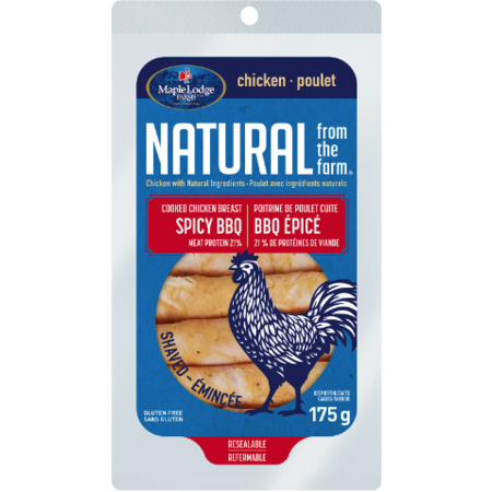 Maple Lodge Farms Natural Spicy BBQ Cooked Chicken Breast Deli 175g