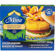 MINA Breaded Chicken Burger (HMA Halal) (Frozen) 1.84Kg