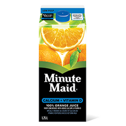 Minute Maid Calcium+Vitamin D 100% Orange Juice, 1.75L