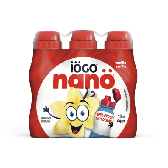 IOGO Nano Drinkable Yogurt - Vanilla 6 x 93ML