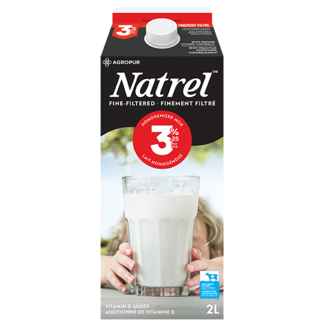 Natrel Fine Filtered 3.25% Milk 2L