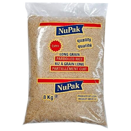 NuPak Long Grain Par Boiled Rice  8Kg