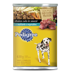 Pedigree Choice Cuts in Sauce with Lamb & Vegetables, 630g