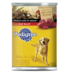 Pedigree Choice Cuts in Sauce with Real Beef, 630g
