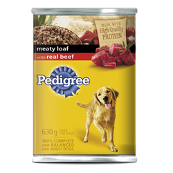 Pedigree Meaty Loaf with Real Beef, 630g