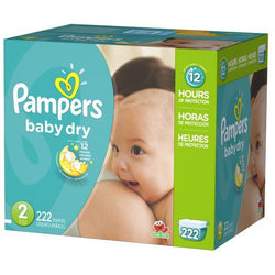 Pampers Baby Dry Diaper Size 2 Economic (222 Pack)