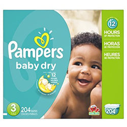Pampers Baby Dry Diaper Size 3 Economic (204 Pack)