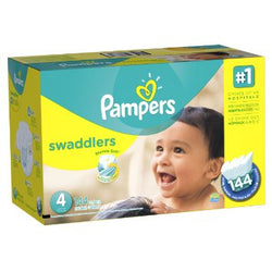 Pampers Swaddlers Diaper Size 4 Economic (144 Pack)