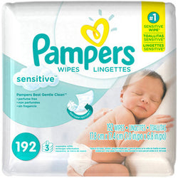 Pampers Sensitive Wipes (3 Pack x64)