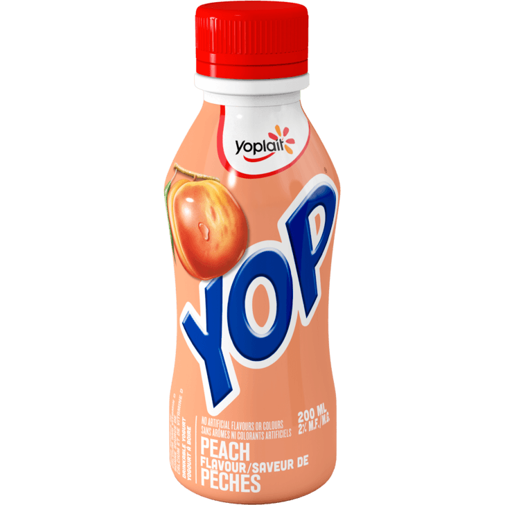 Yoplait - YOP Peach Drinkable Yogurt 200ML