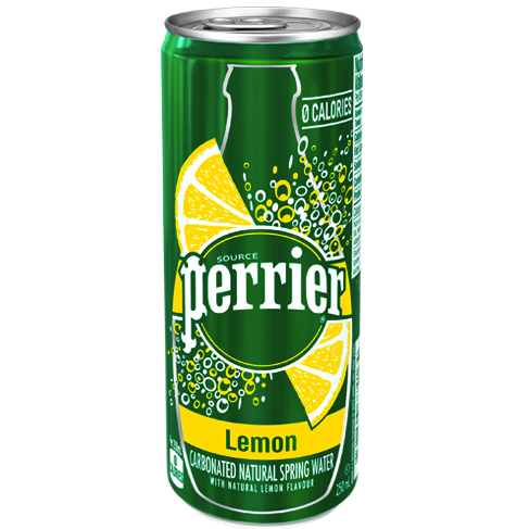 Perrier Carbonated Natural Spring Water Slim Can Lemon (10x250mL)