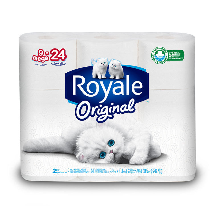Royale Bathroom Tissue 2 Ply 24 Double Rolls