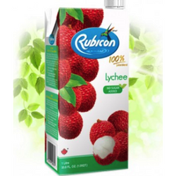 Rubicon Lychee 100% Juice  Blend 1L - No Sugar Added
