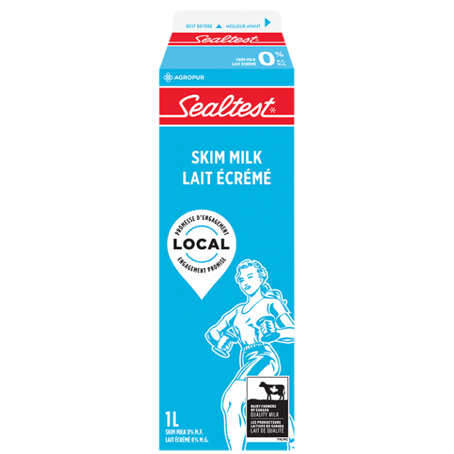 Sealtest Skim White Milk 1L