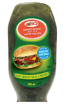 Bick's Sweet Green Relish 500ML