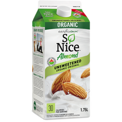 So Nice Organic Almond Milk Unsweetened 1.75L