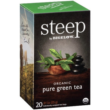 STEEP By BIGELOW Organic Pure Green Tea (20 Packs)