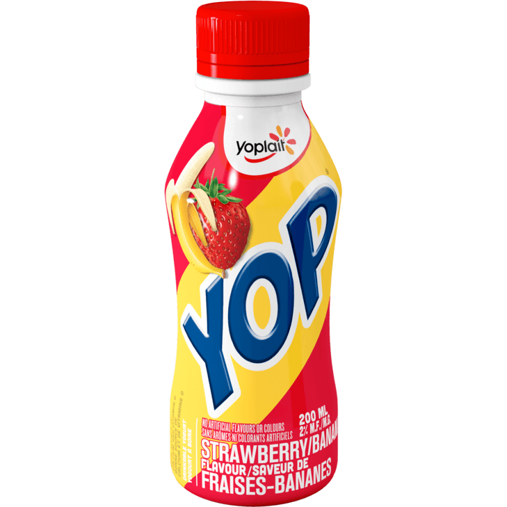 Yoplait - YOP Strawberry & Banana Drinkable Yogurt 200ML