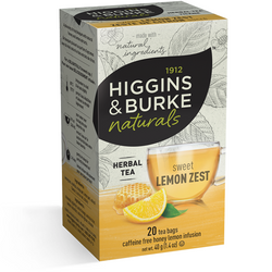 1912 HIGGINGS & BURKE Naturals Herbal Tea Sweet Lemon Zest (20 Bags)