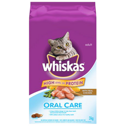 WHISKAS Oral Care with Real Chicken, 3kg