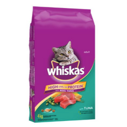 Whiskas Dry Cat Food with Real Tuna, 4kg
