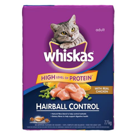 Whiskas Hairball Control with Real Chicken 7.7kg
