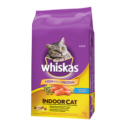 Whiskas Indoor car with Real Salmon 1.4kg