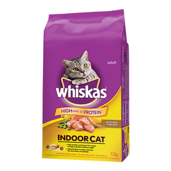 Whiskas Indoor cat with Real Chicken,1.5kg