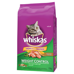 Whiskas weight Control with Real Chicken  1.5kg