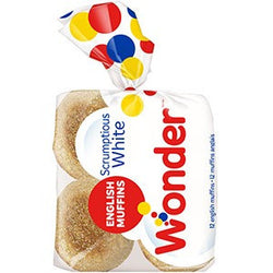 684G Wonder Scrumptious White English Muffins