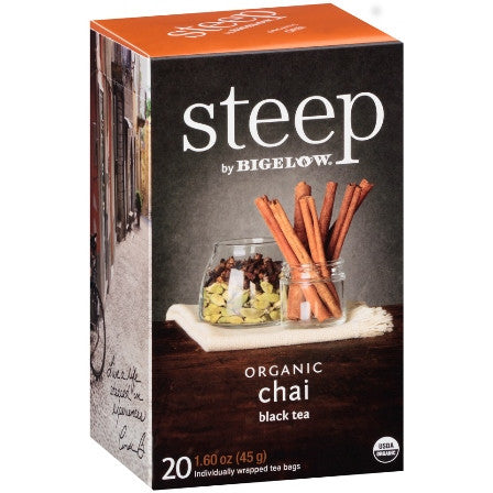 STEEP By BIGELOW Organic Chai Black Tea (20 Packs)