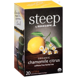 STEEP By BIGELOW Organic Chamomile Citrus Caffeine Free Herbal Tea (20 Packs)