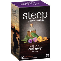 STEEP By BIGELOW Organic Early Grey Black Tea (20 Packs)
