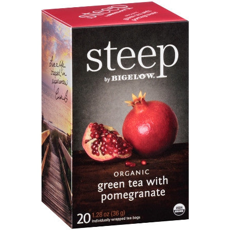 STEEP By BIGELOW Organic Green Tea With Pomegranate (20 Packs)