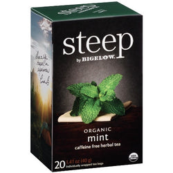 STEEP By BIGELOW Organic Mint Caffeine Free Herbal Tea (20 Packs)