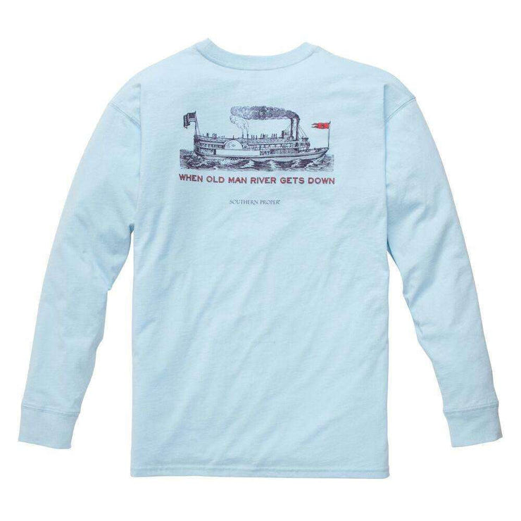 Southern Proper - Old Man River: Sky Blue Long Sleeve