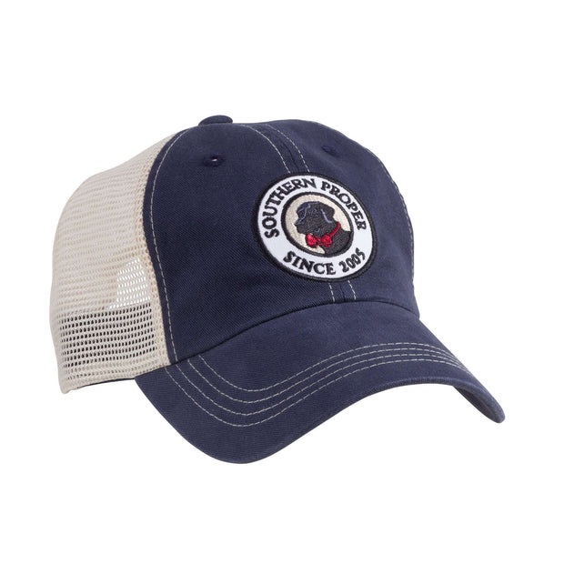 Southern Proper - Original Logo Patch Trucker: Navy