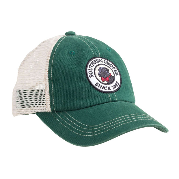 Southern Proper - Original Logo Patch Trucker: Green