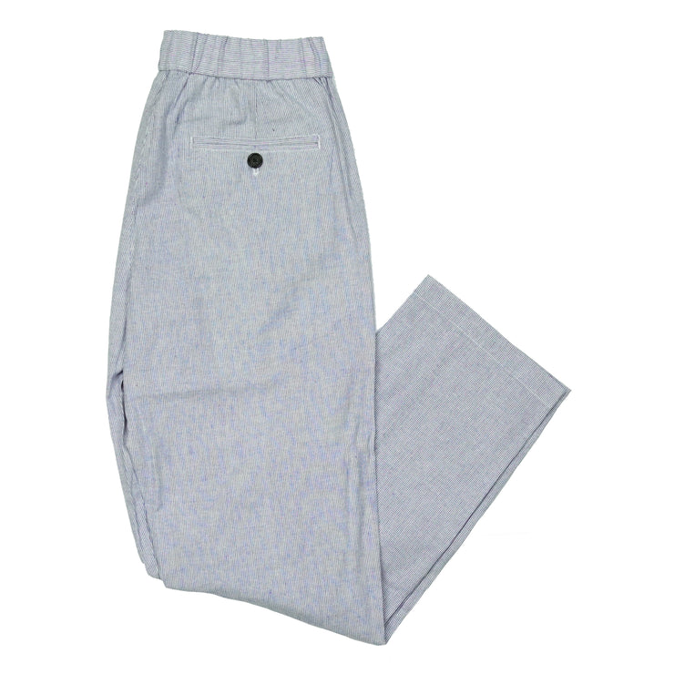 Southern Proper - Beach Walker Pant: Navy Ticking Stripe