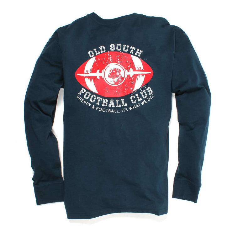 Southern Proper - Preppy & Football Tee: Reflecting Pond Long Sleeve
