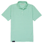 Southern Proper - Covington Polo: Brook Green Stripe