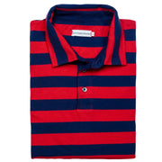 Southern Proper - Covington Polo: Proper Red Stripe