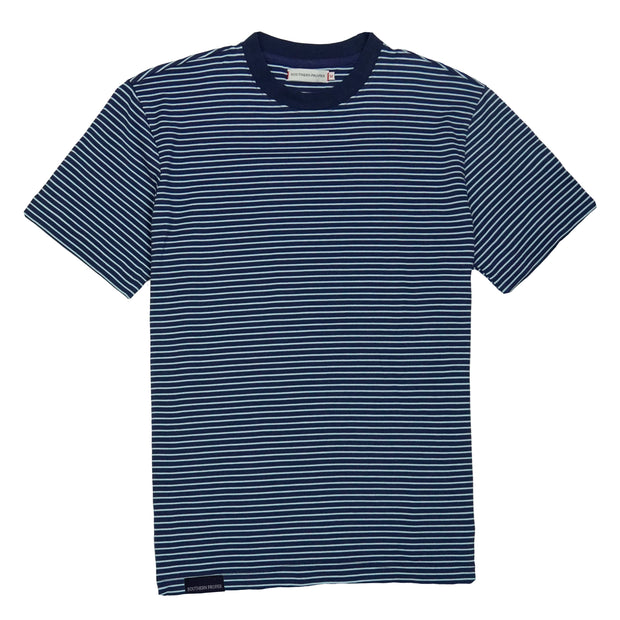 Southern Proper - Deck Tee: Patriot Blue / Porch Blue Stripe