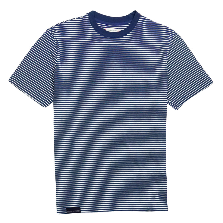 Southern Proper - Deck Tee: Patriot Blue / Porch White Stripe